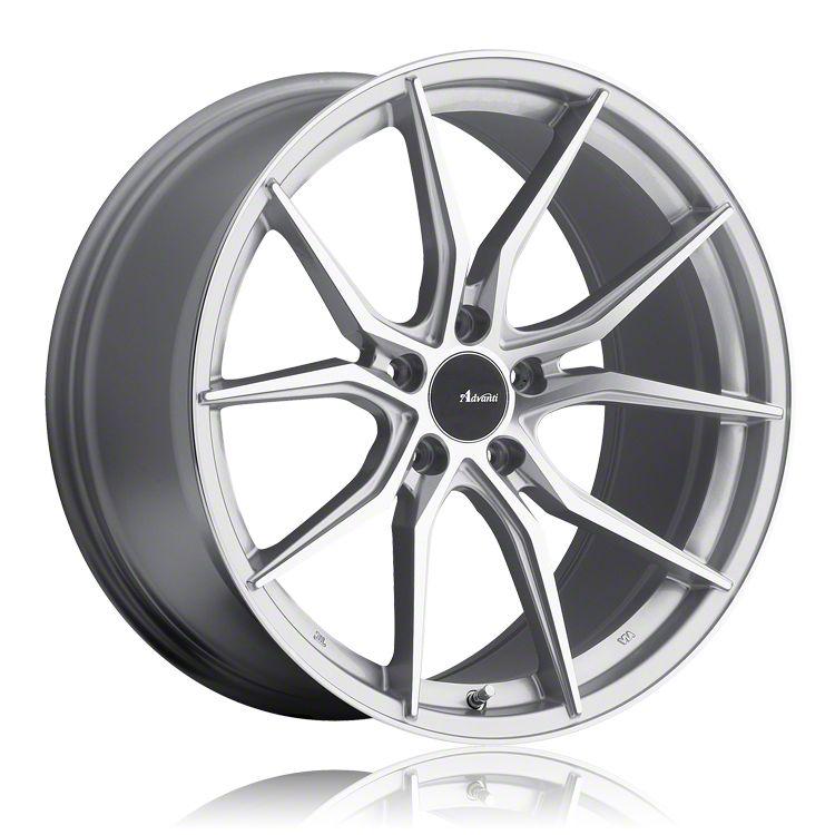 Advanti Hybris Silver Machined Wheel - 19x8.5 (15-19 GT, EcoBoost, V6)