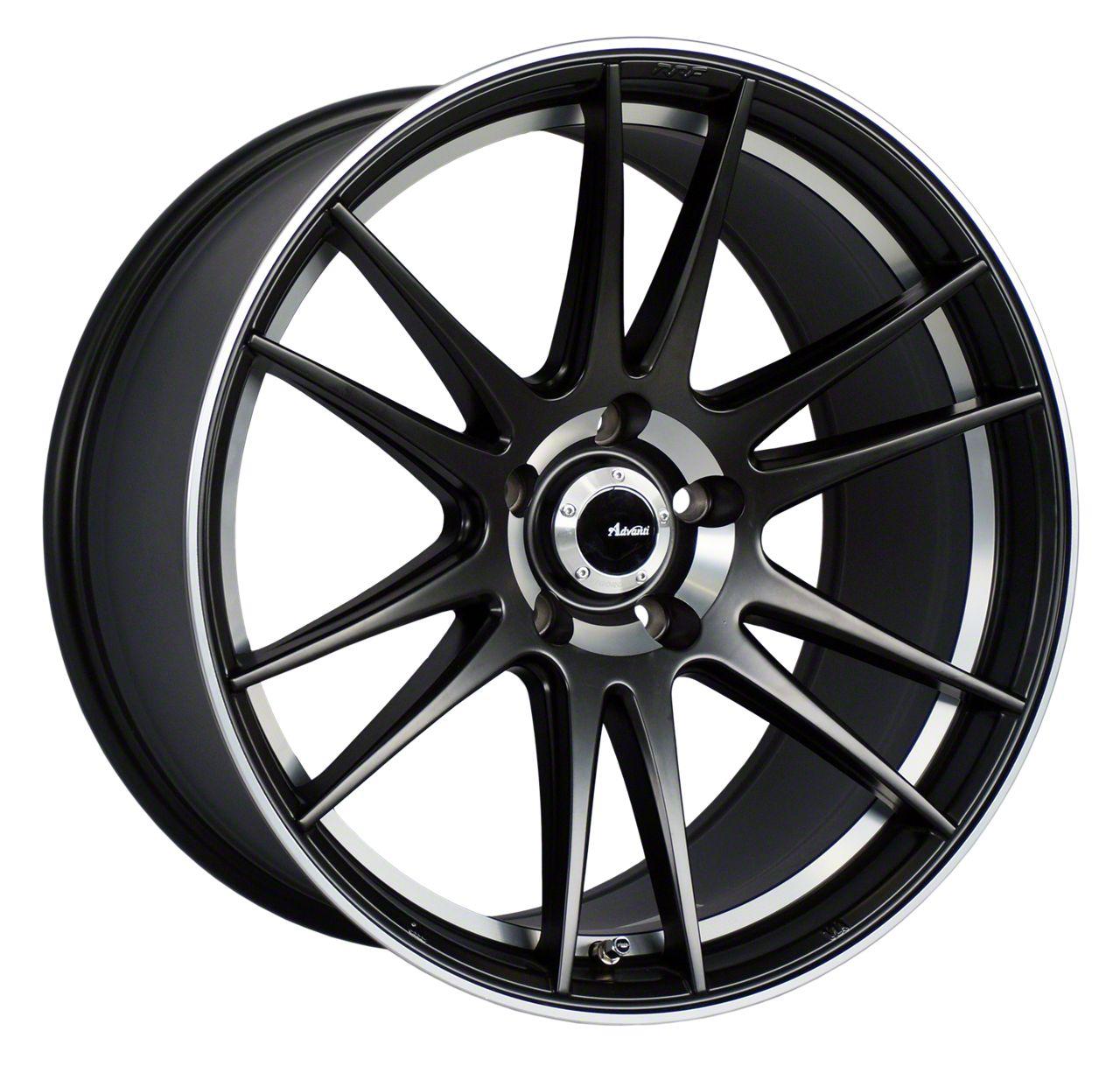 Advanti Optimo Matte Black w/ Machined Lip Wheel - 19x9.5 (05-14 All)