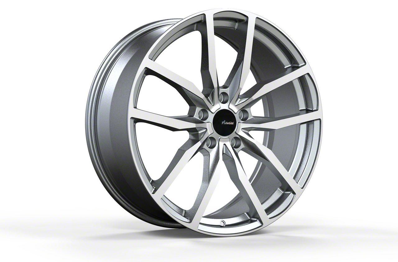 Advanti Rasato Matte Gunmetal w/ Machined Face Wheel - 19x8.5 (15-19 EcoBoost, V6)