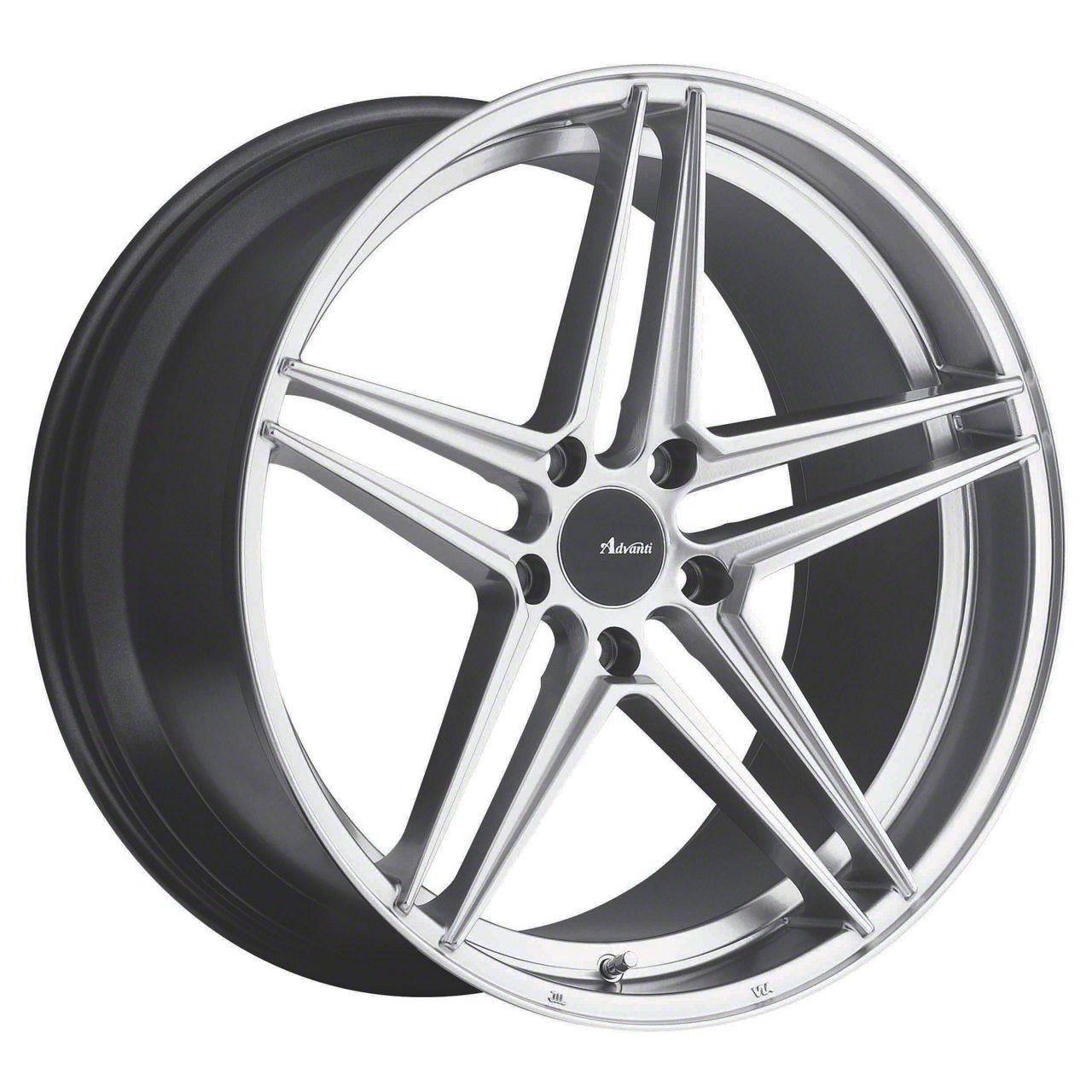 Advanti Rein Hyper Silver Wheel - 18x8 (15-19 EcoBoost, V6)