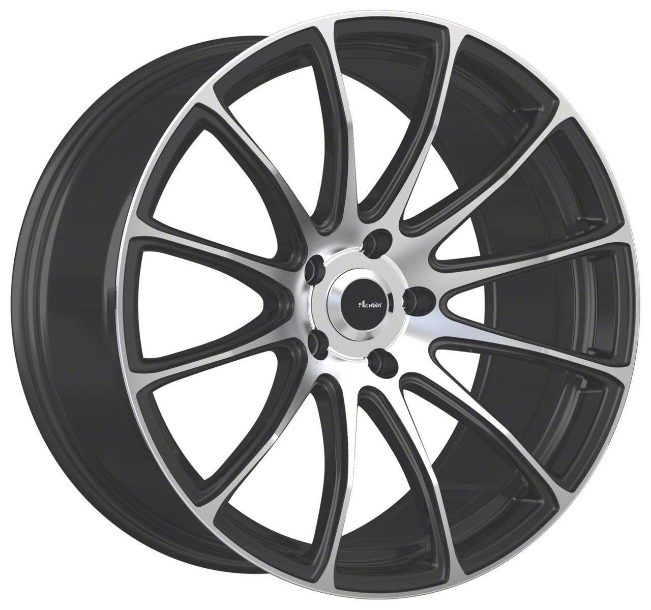 Advanti Svelto Matte Black Machined Wheel - 18x8 (05-14 Standard GT, V6)