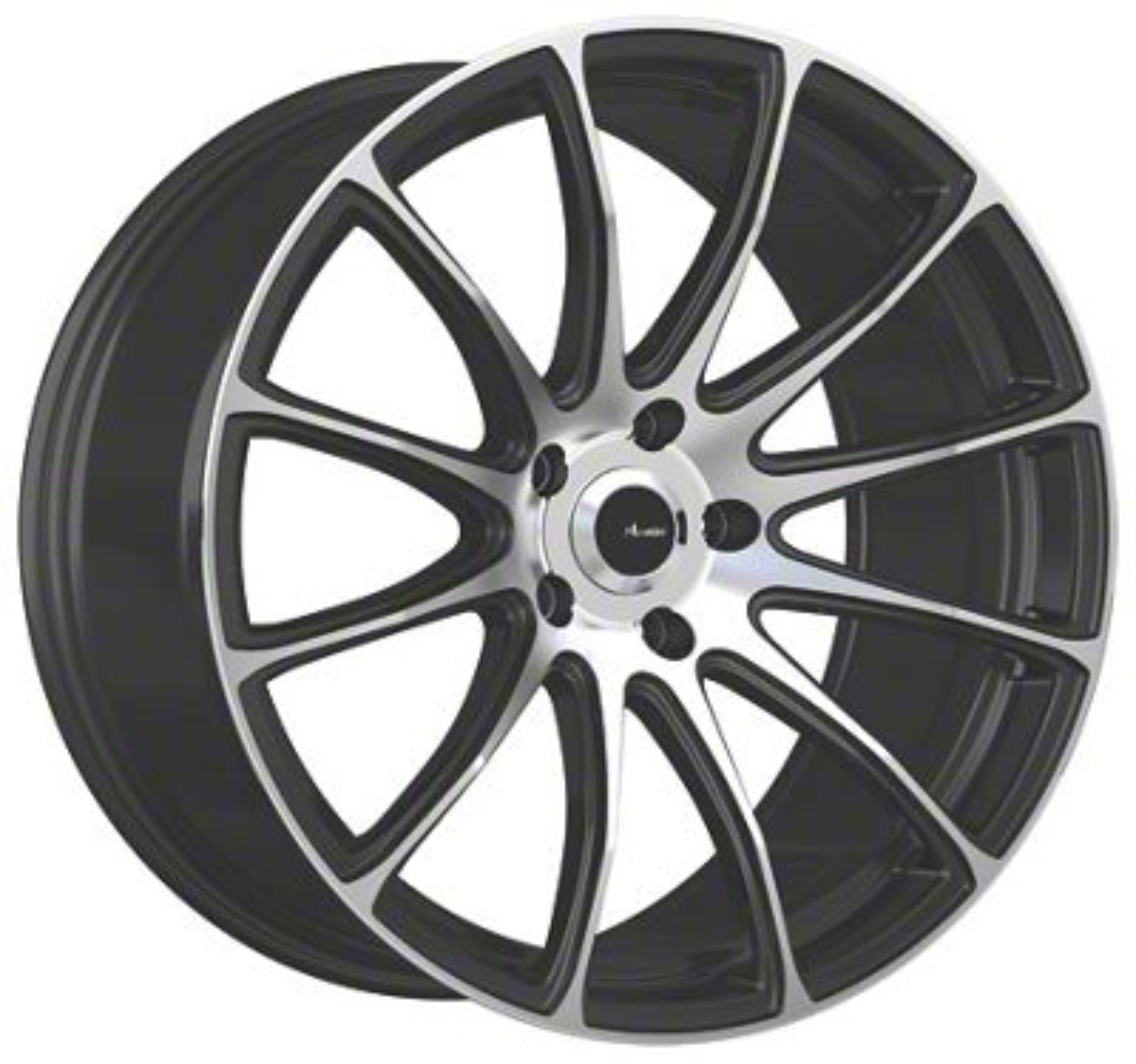 Advanti Svelto Matte Black Machined Wheel - 19x9.5 (15-19 GT, EcoBoost, V6)