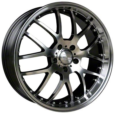 HD Wheels MSR Gloss Black Machined Wheel - 18x9 (05-14 Standard GT, V6)