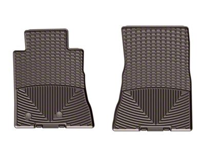 Weathertech All Weather Front Rubber Floor Mats - Cocoa (15-19 All)