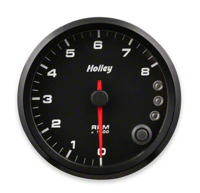 Holley Performance 3-3/8 in. Analog-Style 0-8K Tachometer - Black (79-19 All)