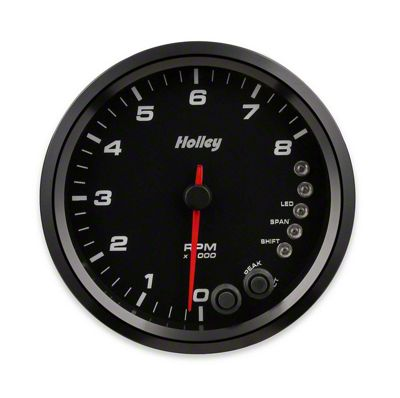 Holley Performance 4.5 in. Analog-Style 0-8K Tachometer - Black (79-19 All)
