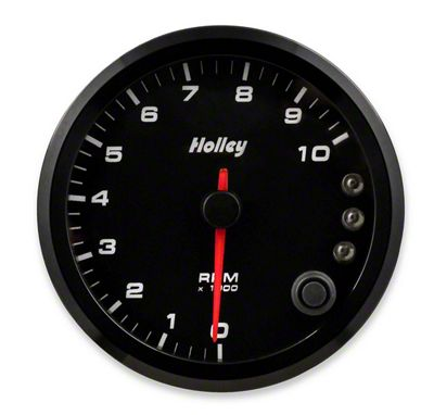 Holley Performance 3-3/8 in. Analog-Style 0-10K Tachometer - Black (79-19 All)