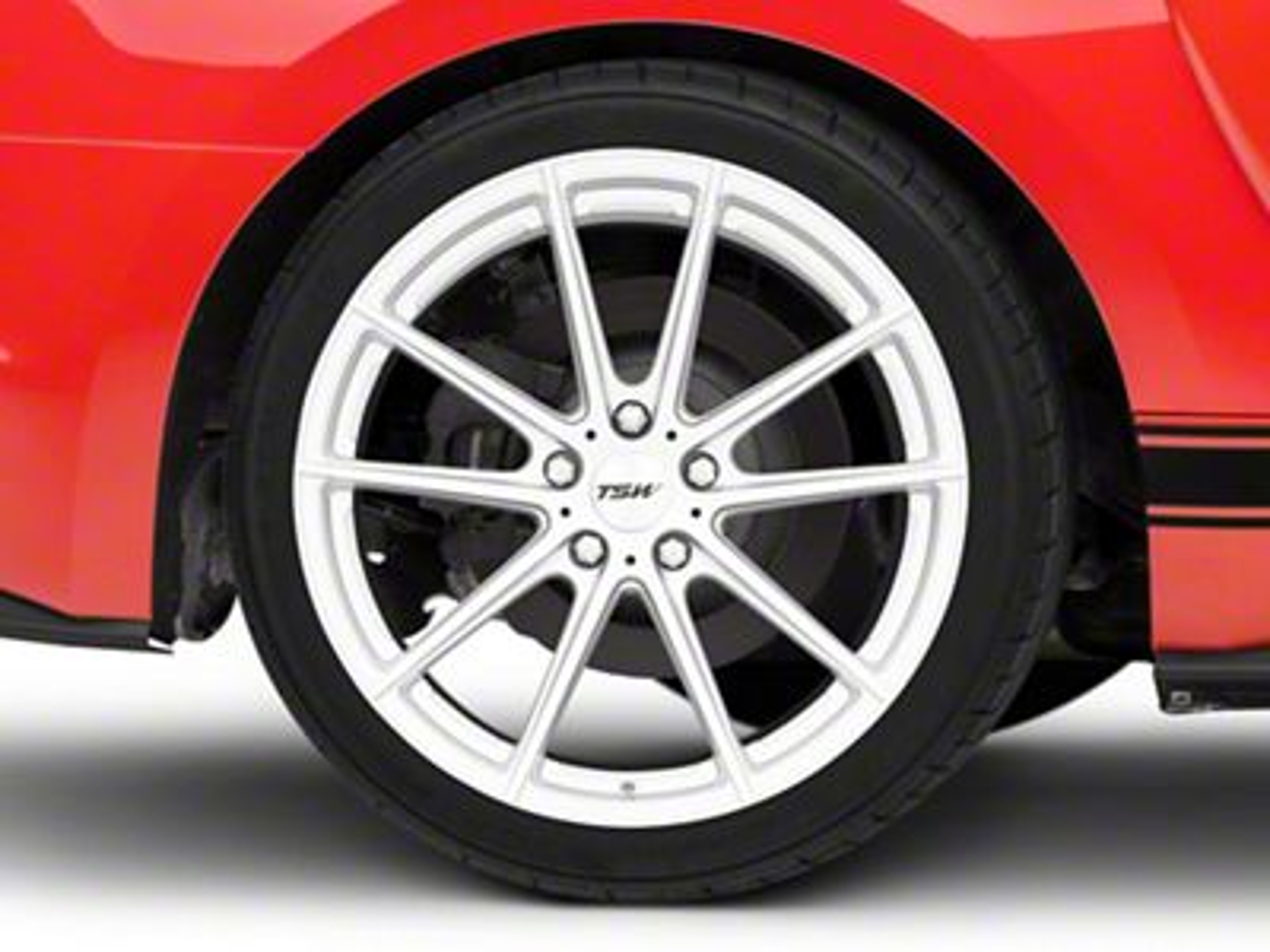 TSW Bathurst Silver Wheel - 19x10.5 (15-19 GT, EcoBoost, V6)