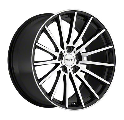 TSW Chicane Gloss Black w/ Mirror Cut Face Wheel - 19x8.5 (15-19 All)