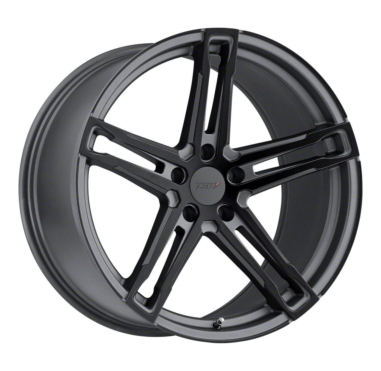 TSW Mechanica Matte Gunmetal w/ Matte Black Face Wheel - 20x11 (15-19 GT, EcoBoost, V6)