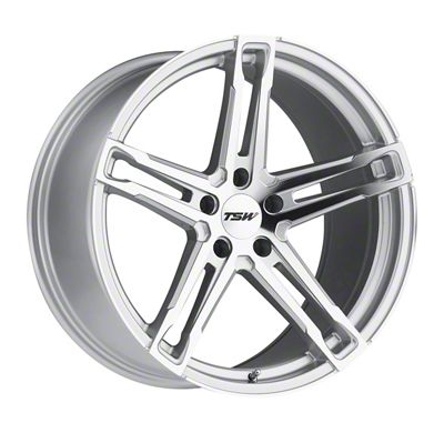 TSW Mechanica Silver Wheel - 20x11 - Rear Only (15-19 GT, EcoBoost, V6)
