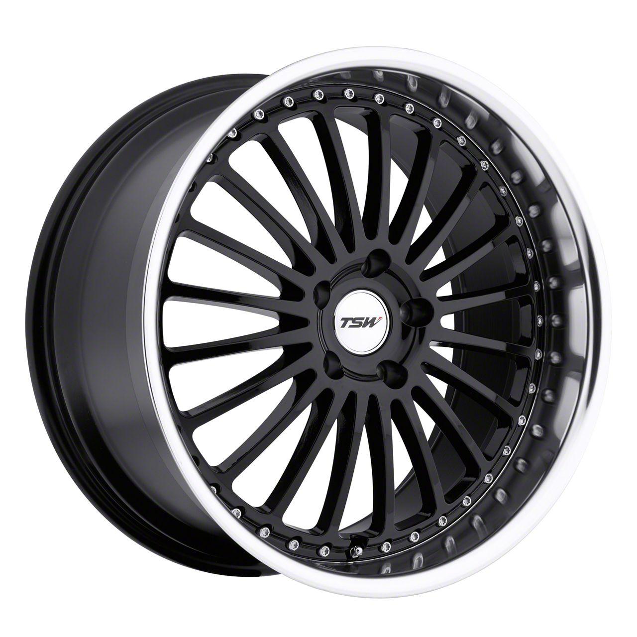 TSW Silverstone Gloss Black w/ Mirror Cut Lip Wheel - 20x10 (15-19 GT, EcoBoost, V6)
