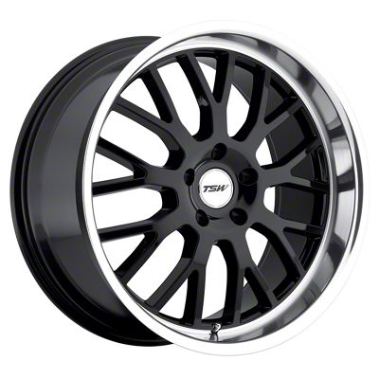 TSW Tremblant Gloss Black w/ Mirror Cut Lip Wheel - 19x9.5 (05-14 All)