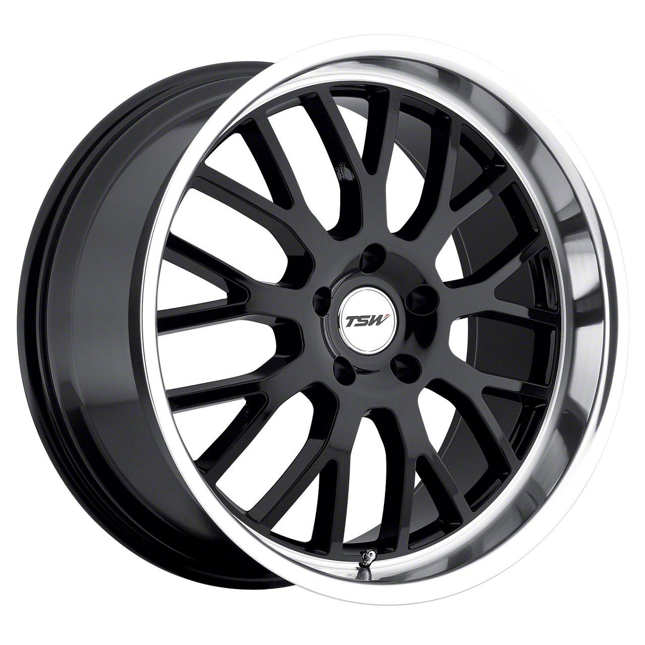 TSW Tremblant Gloss Black w/ Mirror Cut Lip Wheel - 20x10 - Rear Only (05-14 All)