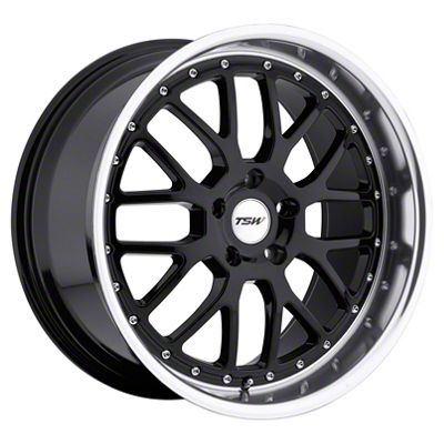 TSW Valencia Gloss Black w/ Mirror Cut Lip Wheel - 19x9.5 (15-19 GT, EcoBoost, V6)