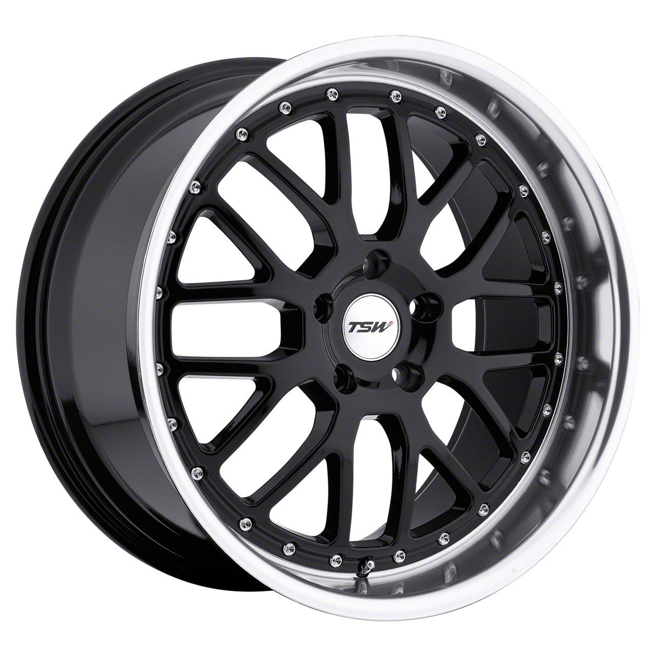 TSW Valencia Gloss Black w/ Mirror Cut Lip Wheel - 20x10 (05-14 All)