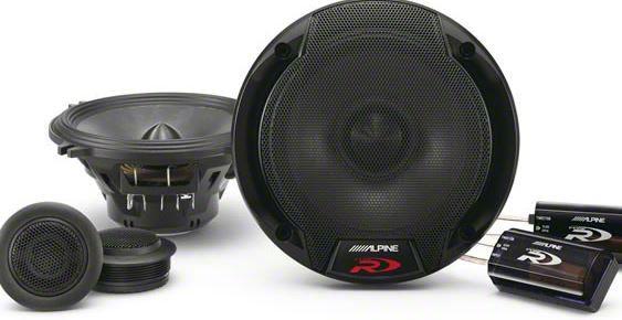 Alpine R-Series 5-1/4 in. Component 2-Way Speaker System - 100W (82-93 All)