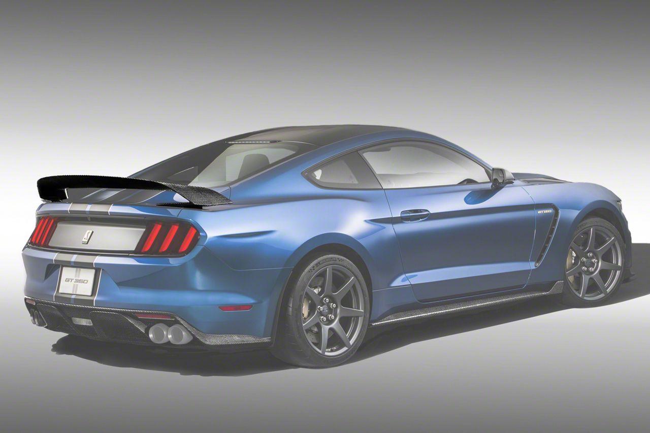 Icon Composites GT350R Track Edition TrueFit Rear Spoiler - Camo Carbon Fiber (15-19 Fastback)