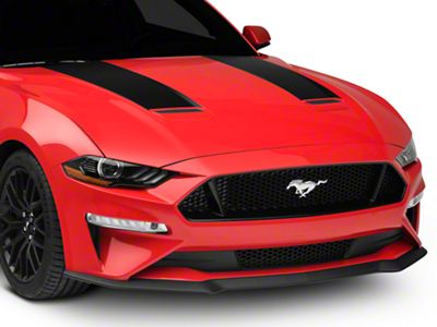 American Muscle Graphics Hood Stripes - Matte Black (18-19 GT, EcoBoost)