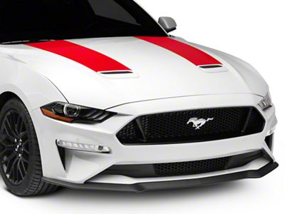 American Muscle Graphics Hood Stripes - Red (18-19 GT, EcoBoost)