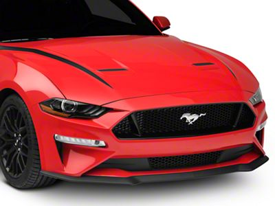 American Muscle Graphics Hood Accent Decal - Matte Black (18-19 GT, EcoBoost)