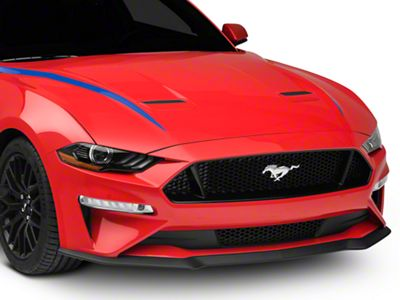 American Muscle Graphics Hood Accent Decal - Blue (18-19 GT, EcoBoost)