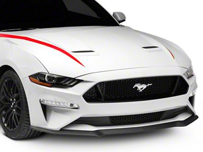 American Muscle Graphics Hood Accent Decal - Red (18-19 GT, EcoBoost)