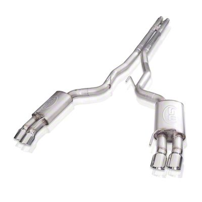 Stainless Works Redline Cat-Back Exhaust w/ H-Pipe - Factory Connect (18-19 GT Fastback w/o Active Exhaust)
