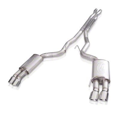 Stainless Works Redline Cat-Back Exhaust w/ X-Pipe - Factory Connect (18-19 GT Fastback w/o Active Exhaust)