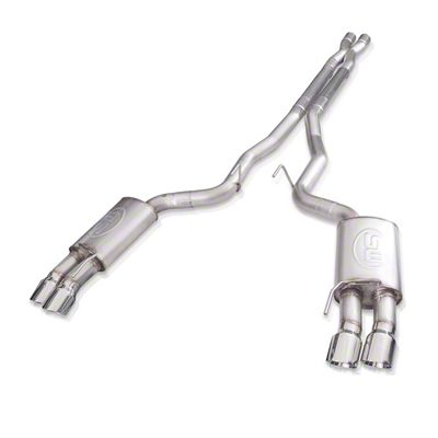 Stainless Works Redline Cat-Back Exhaust w/ X-Pipe - Performance Connect (18-19 GT Fastback w/o Active Exhaust)