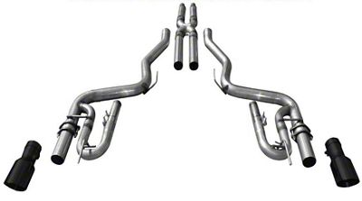 Solo Performance Street Race Cat-Back Exhaust w/ Black Tips (15-17 GT Fastback)