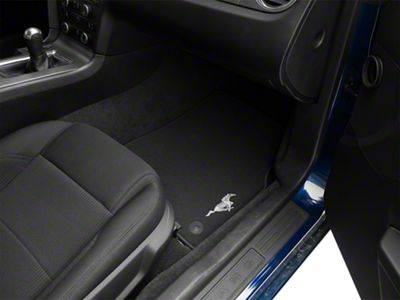 Ford Performance Front Floor Mats w/ Pony Logo - Black (13-14 All)