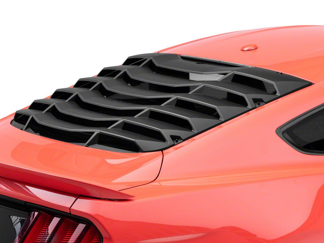 MP Concepts Rear Window Louvers - Matte Black (15-19 Fastback)