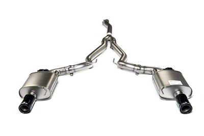 Remus Race Active Cat-Back Exhaust w/ Black Chrome Tips (15-19 EcoBoost w/o Active Exhaust)