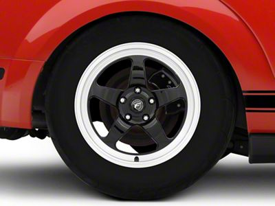 Forgestar D5 Drag Black Machined Wheel - 17x10 - Rear Only (05-14 All)