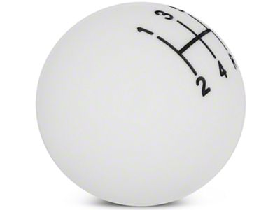 Modern Billet Retro Style 5-Speed Shift Knob - White (05-10 GT, V6)