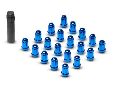 Blue 6 Spline Lug Nuts - 1/2 in. x 20 (79-14 All)