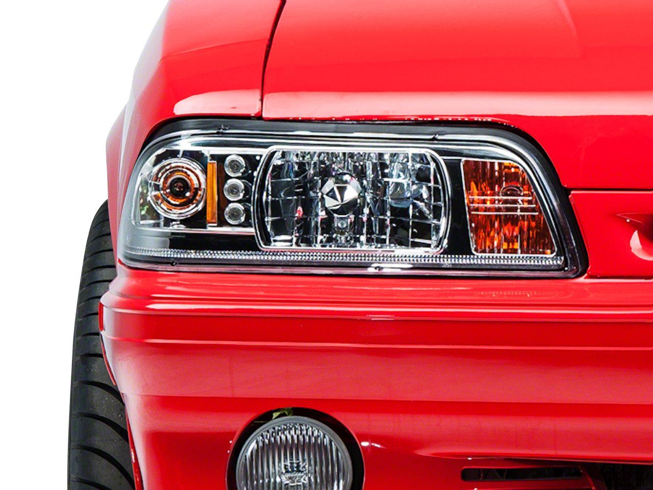 Axial Chrome One-Piece Headlights (87-93 All)