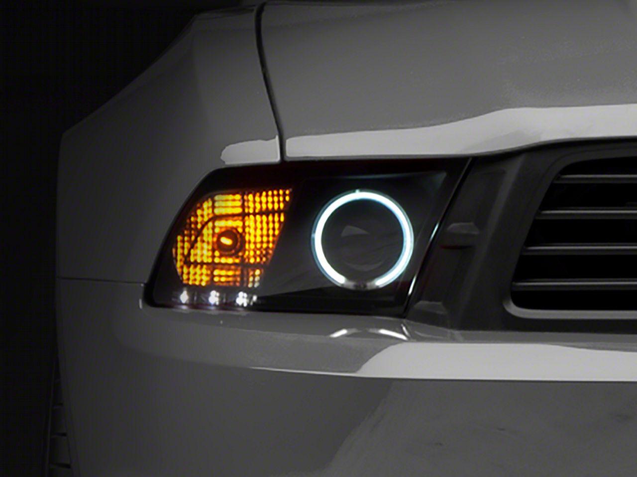 Raxiom Smoked Projector Headlights - CCFL Halo (10-12 GT, V6)