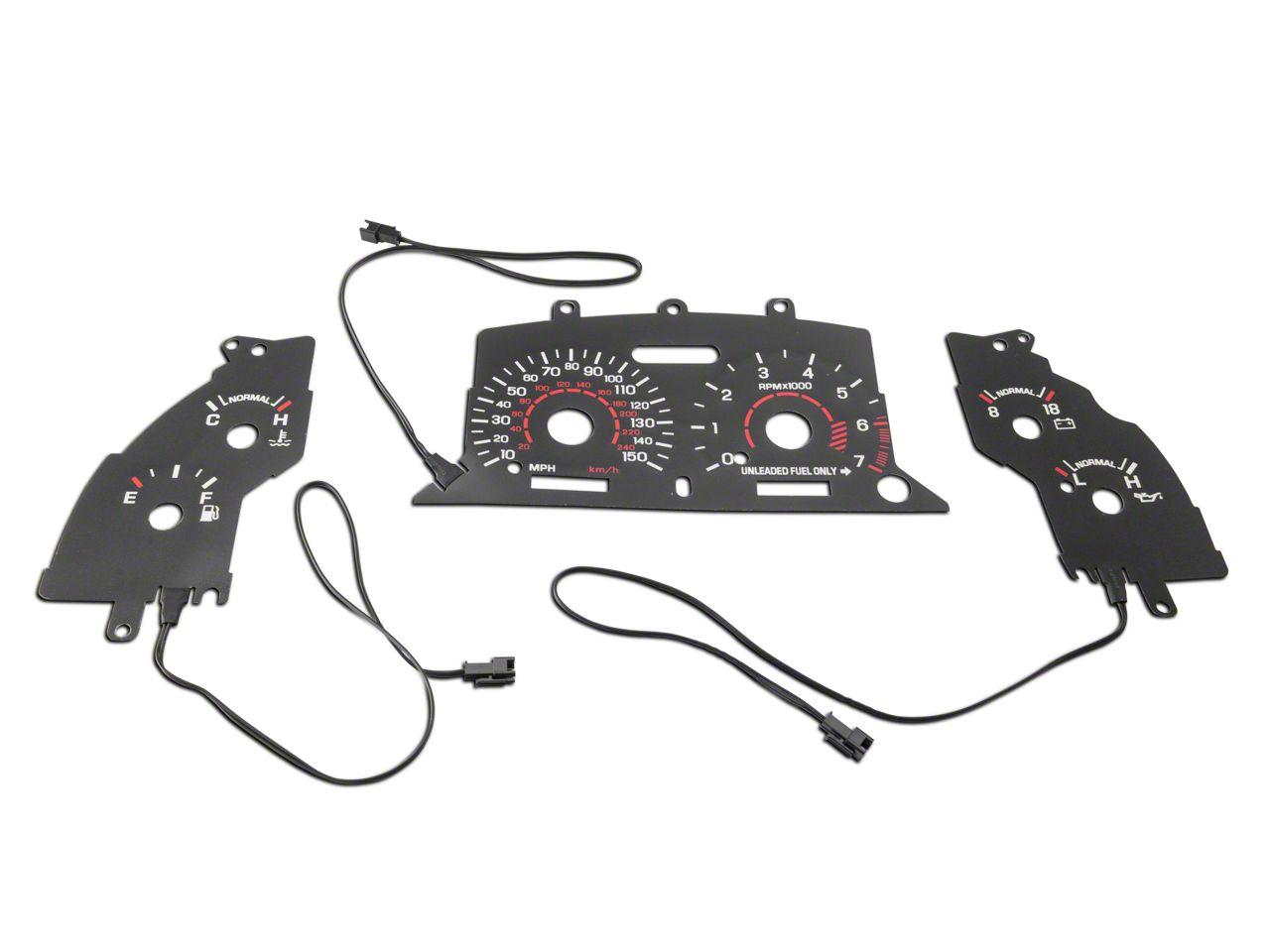 Black Face Reverse Glow Gauge Insert (94-95 GT)