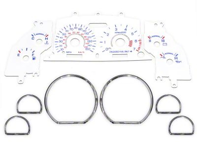 White Face Gauge and Chrome Ring Kit (94-95 GT)