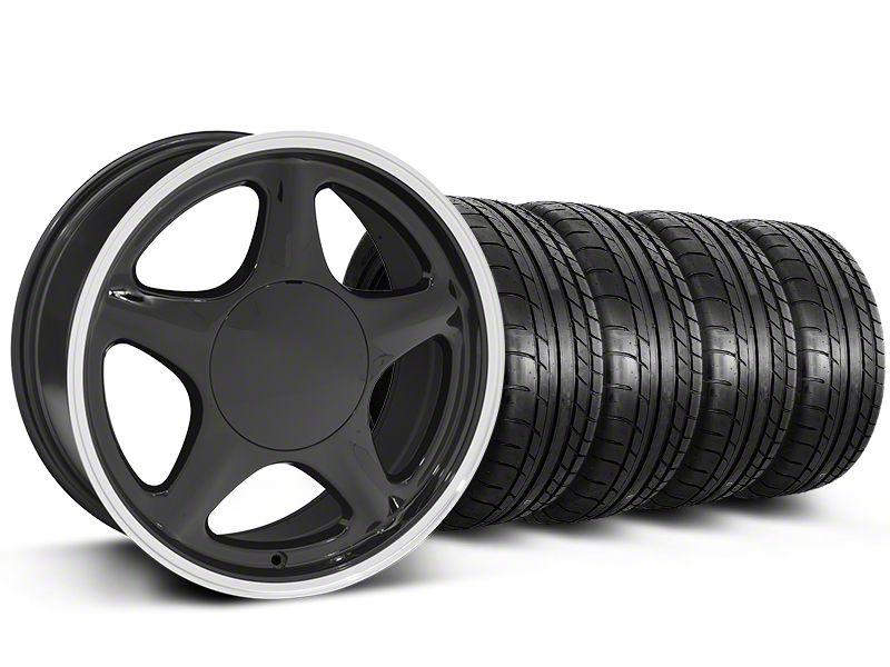 Pony Black w/ Machined Lip Wheel & Mickey Thompson Tire Kit - 17x8 (87-93 All, Excluding Cobra)