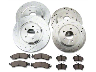 Power Stop Z23 Evolution Sport Brake Rotor & Pad Kit - Front & Rear (94-04 Cobra, Bullitt, Mach 1)
