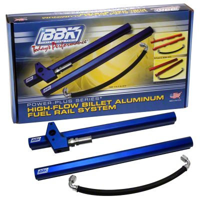 BBK High Flow Aluminum Fuel Rail Kit (05-10 GT)
