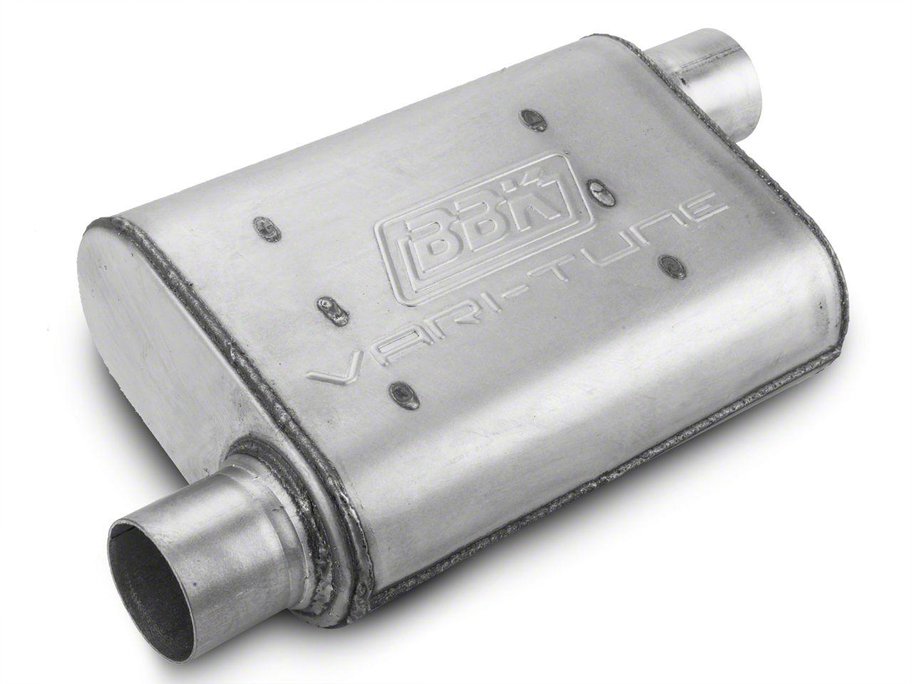 BBK Aluminized Varitune Offset/Offset Oval Muffler - 2.5 in. (Universal Fitment)
