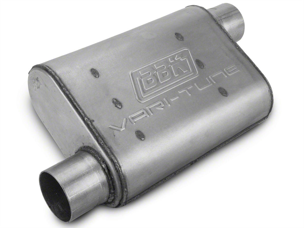 BBK Aluminized Varitune Offset/Offset Oval Muffler - 2.75 in. (Universal Fitment)