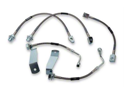 Russell Stainless Steel Braided Brake Line Kit - Front & Rear (94-95 Cobra)