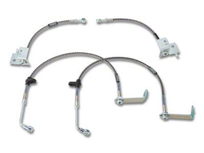 Russell Stainless Steel Braided Brake Line Kit - Front & Rear (05-14 GT, V6 w/ ABS)