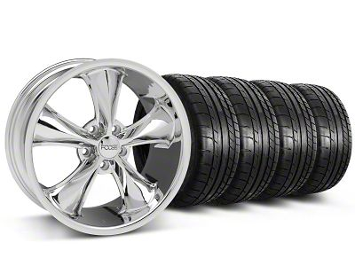 Staggered Foose Legend Chrome Wheel & Mickey Thompson Tire Kit - 18x8.5/9.5 (05-10 GT, V6)