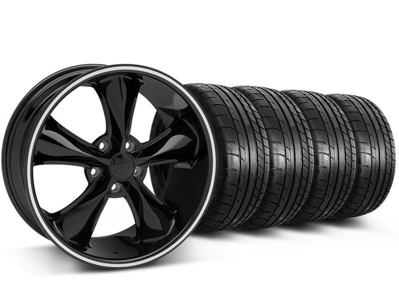 Staggered Foose Legend Black Wheel & Mickey Thompson Tire Kit - 20x8.5/10 (05-14 GT, V6)